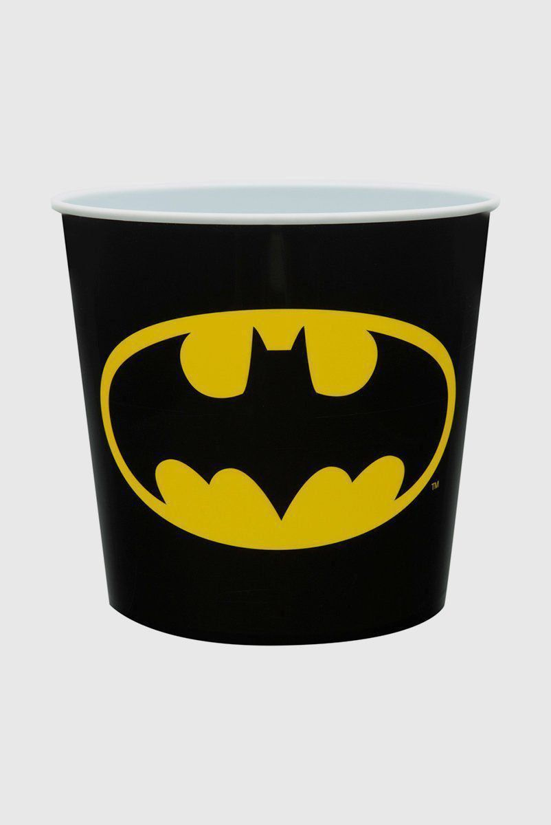 Balde de Pipoca de Plástico Batman Logo