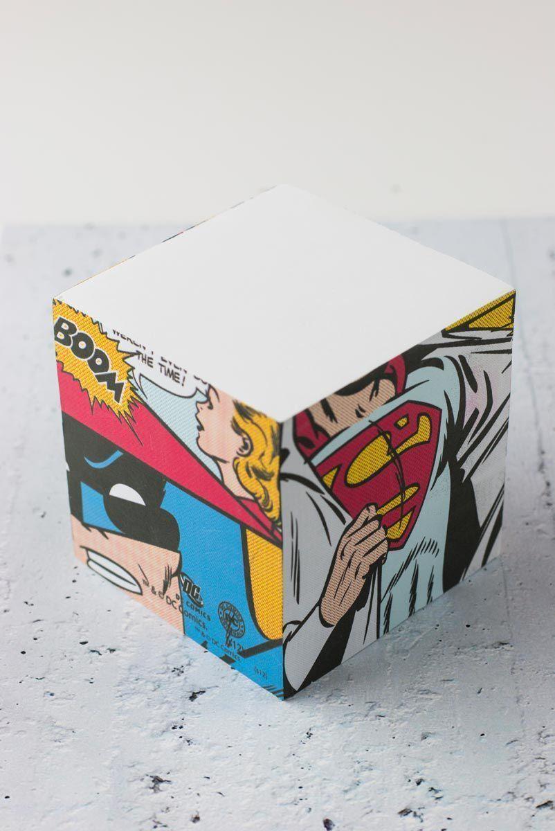 Bloco de anotação Superman e Batman