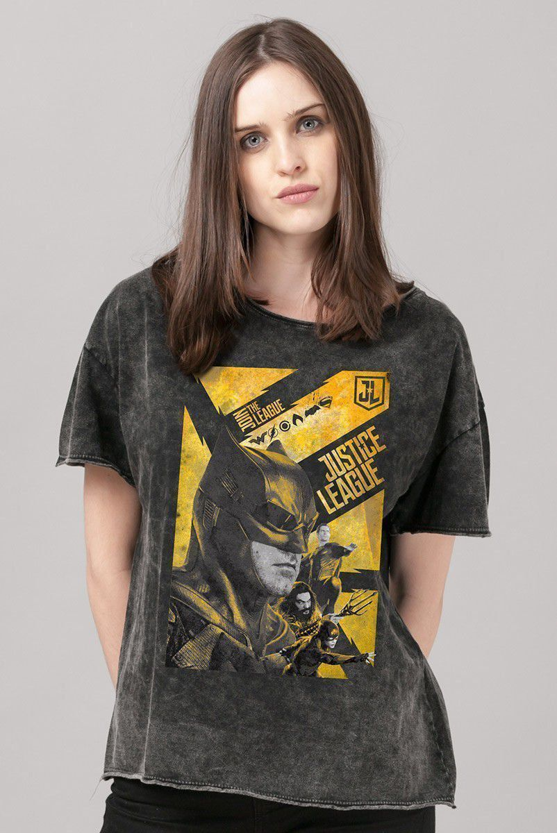 NÃO ATIVAR Blusa Feminina Liga da Justiça Batman