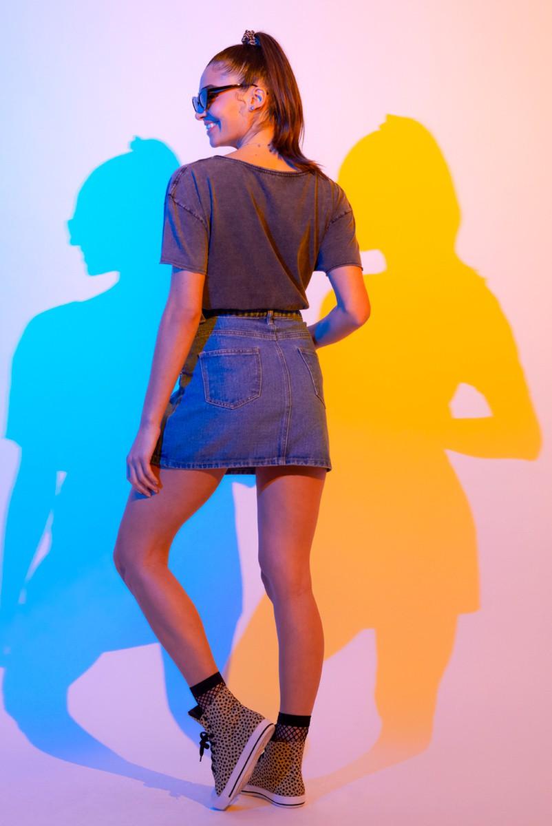 Blusa Feminina Mulher Maravilha 1984 Logo Style