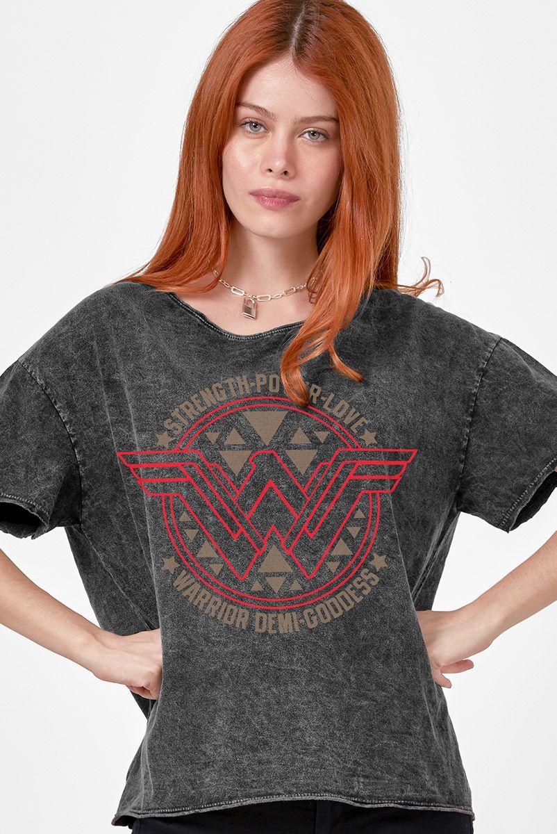 Blusa Feminina Mulher Maravilha Logo Power Love