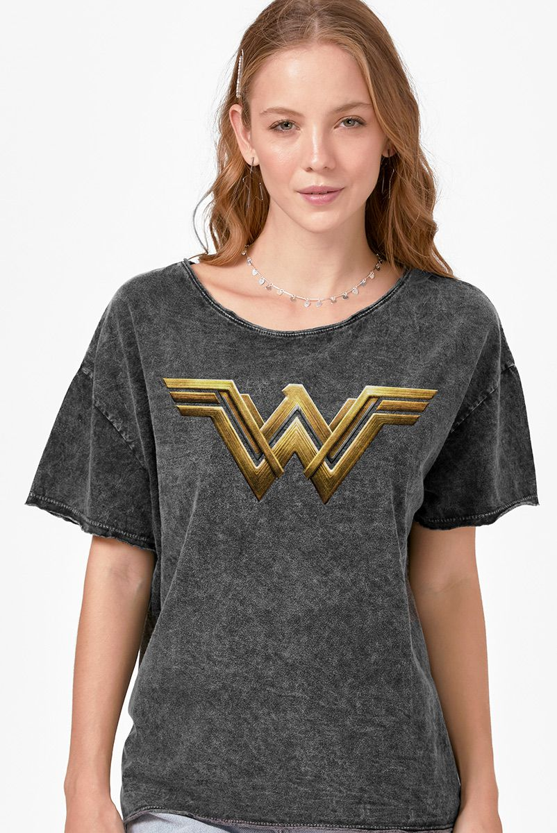 Blusa Feminina Mulher Maravilha Logo Strength