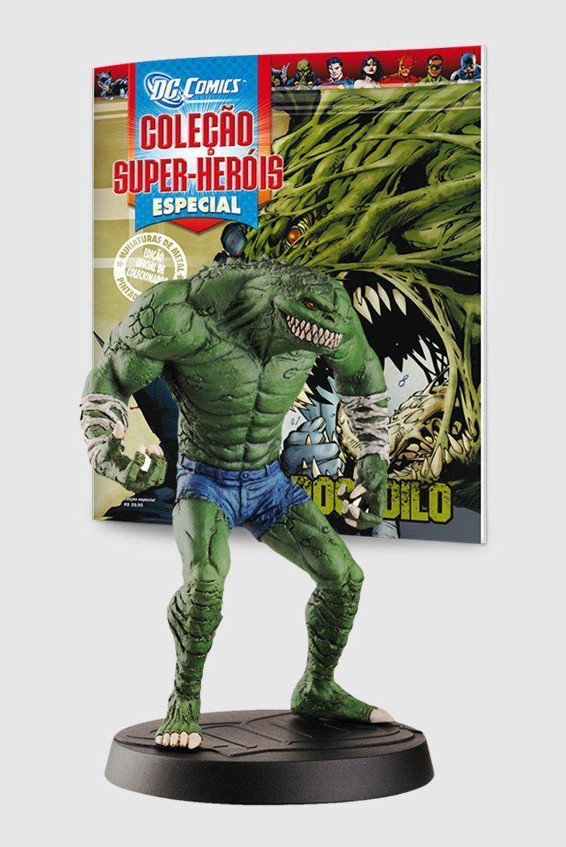 Boneco Miniatura Especial Crocodilo + Revista
