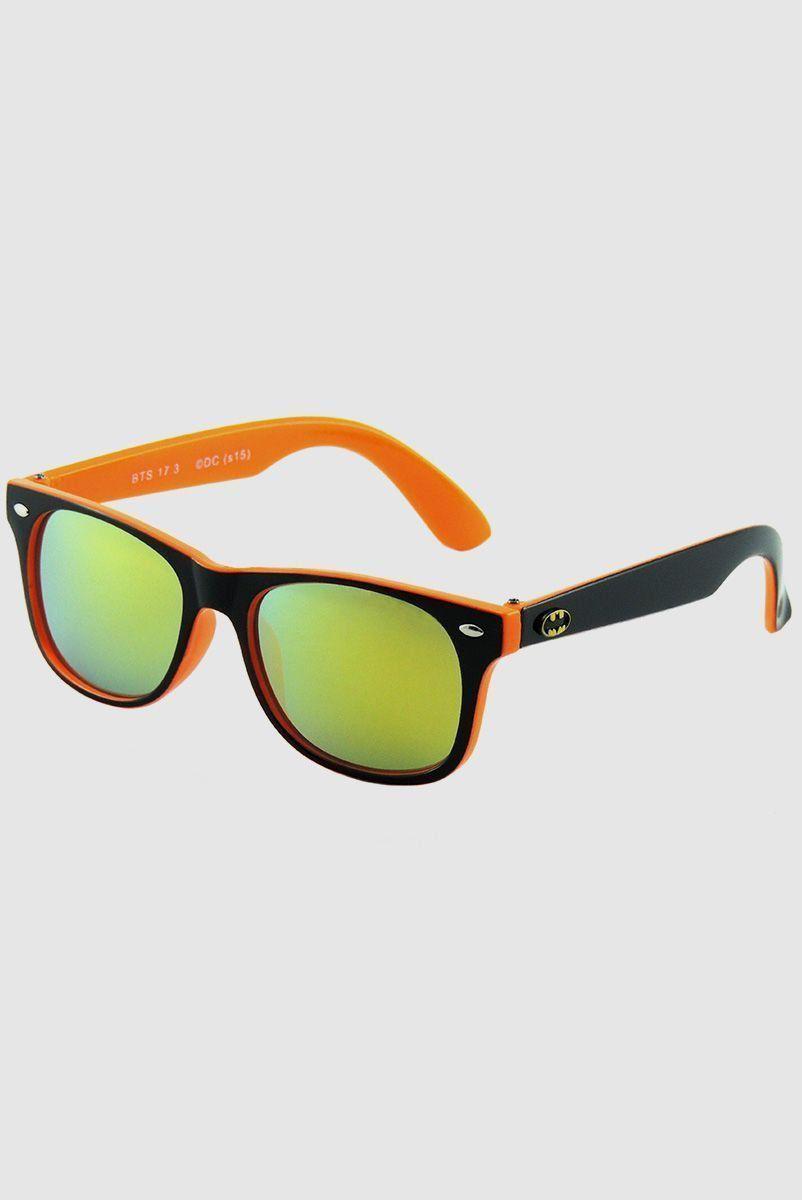 Óculos de Sol Batman Infantil Preto com Laranja