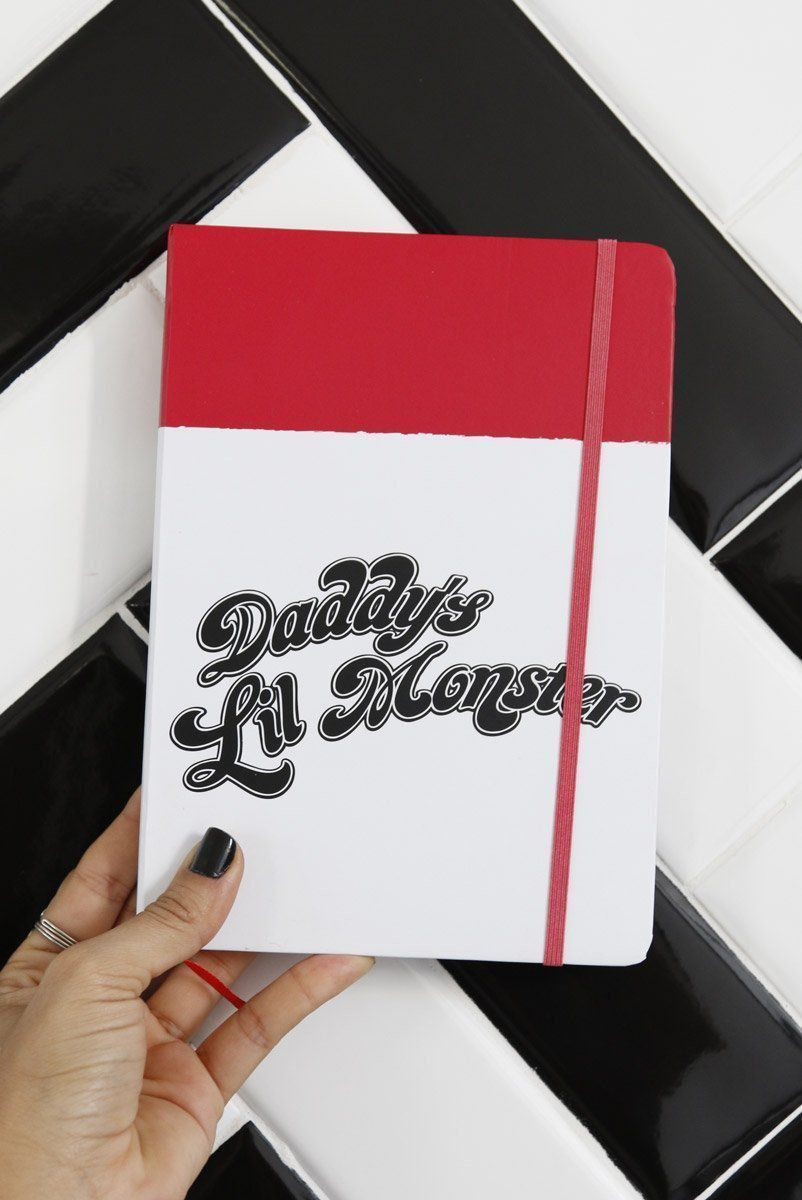 Caderneta de Anotações Harley Quinn Daddy's Lil Monster A5