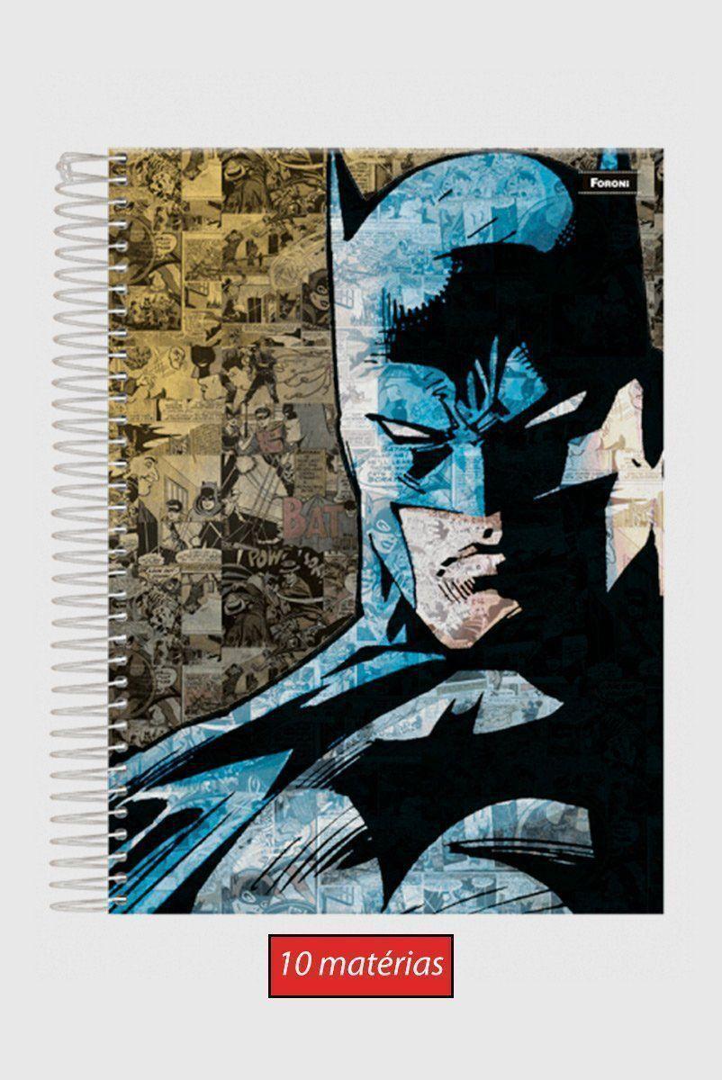 Caderno 10 Matérias Batman Knight