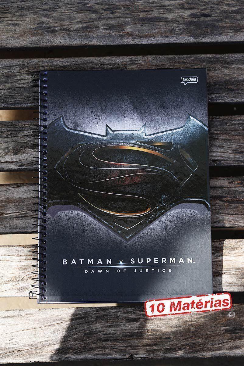 Caderno Batman VS Superman Logo 10 Matérias