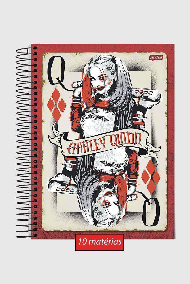 Caderno Harley Quinn of Gold 10 Matérias