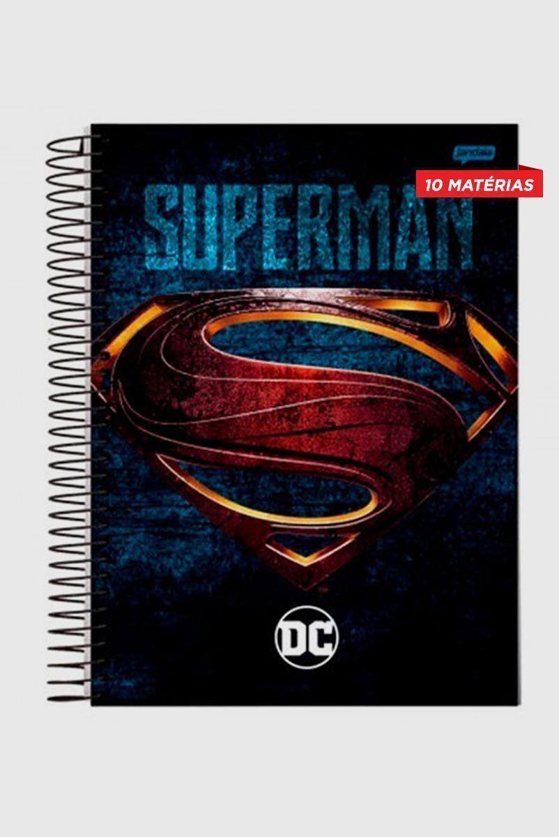 Caderno Superman Logo Movie 10 Matérias
