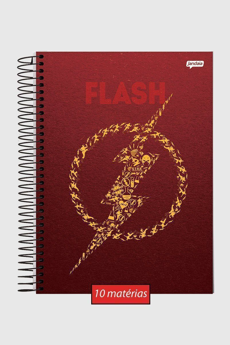 Caderno The Flash Icons 10 Matérias