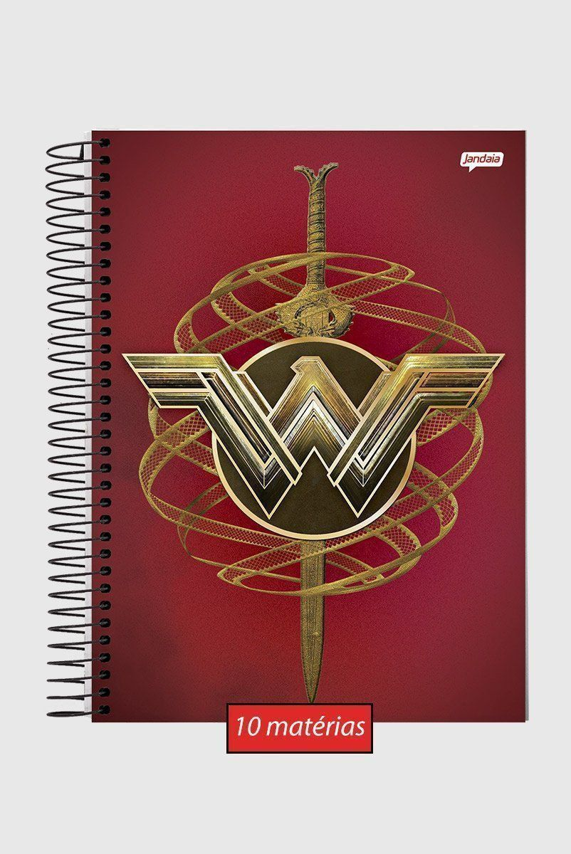 Caderno Wonder Woman Icons 10 Matérias