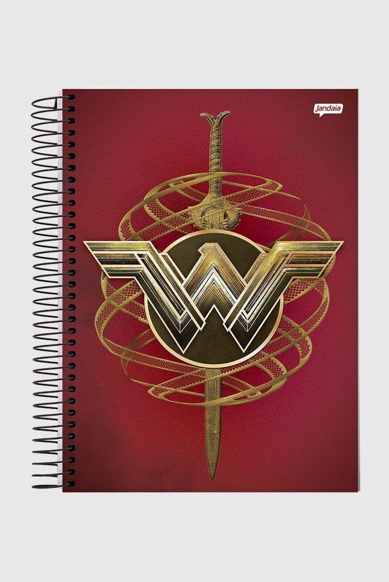 Caderno Mulher Maravilha Icons 1 Matéria