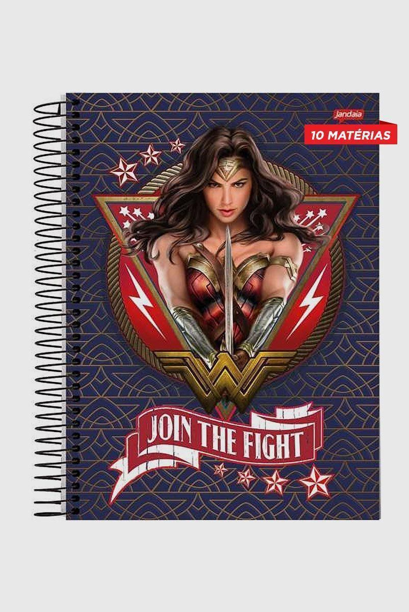 Caderno Mulher Maravilha Join The Fight 10 Matérias