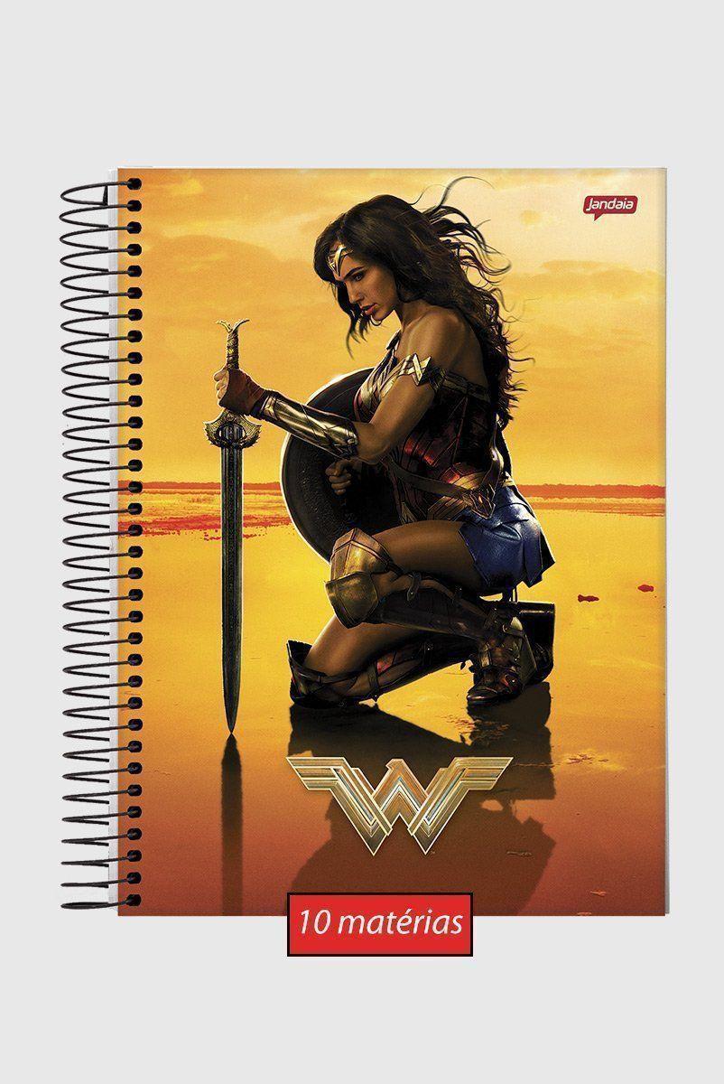 Caderno Mulher Maravilha Pôster 10 Matérias