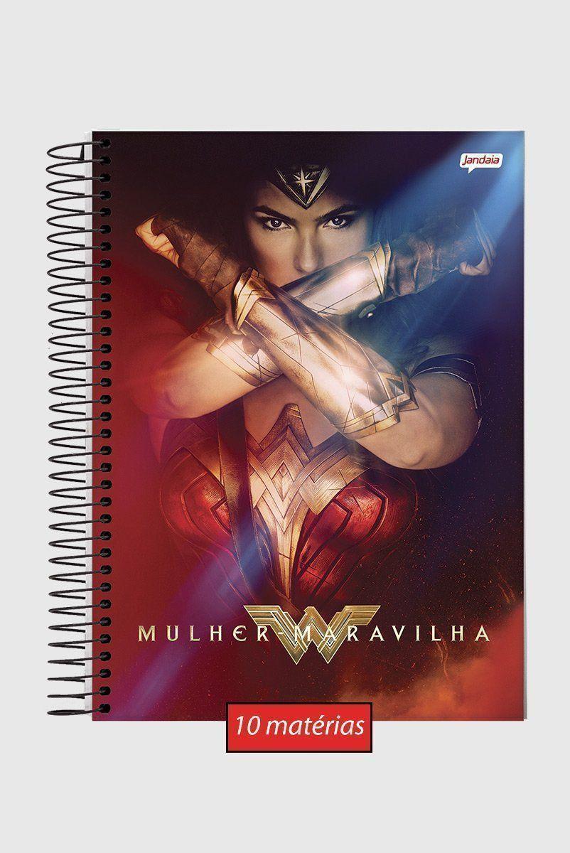 Caderno Mulher Maravilha Power 10 Matérias