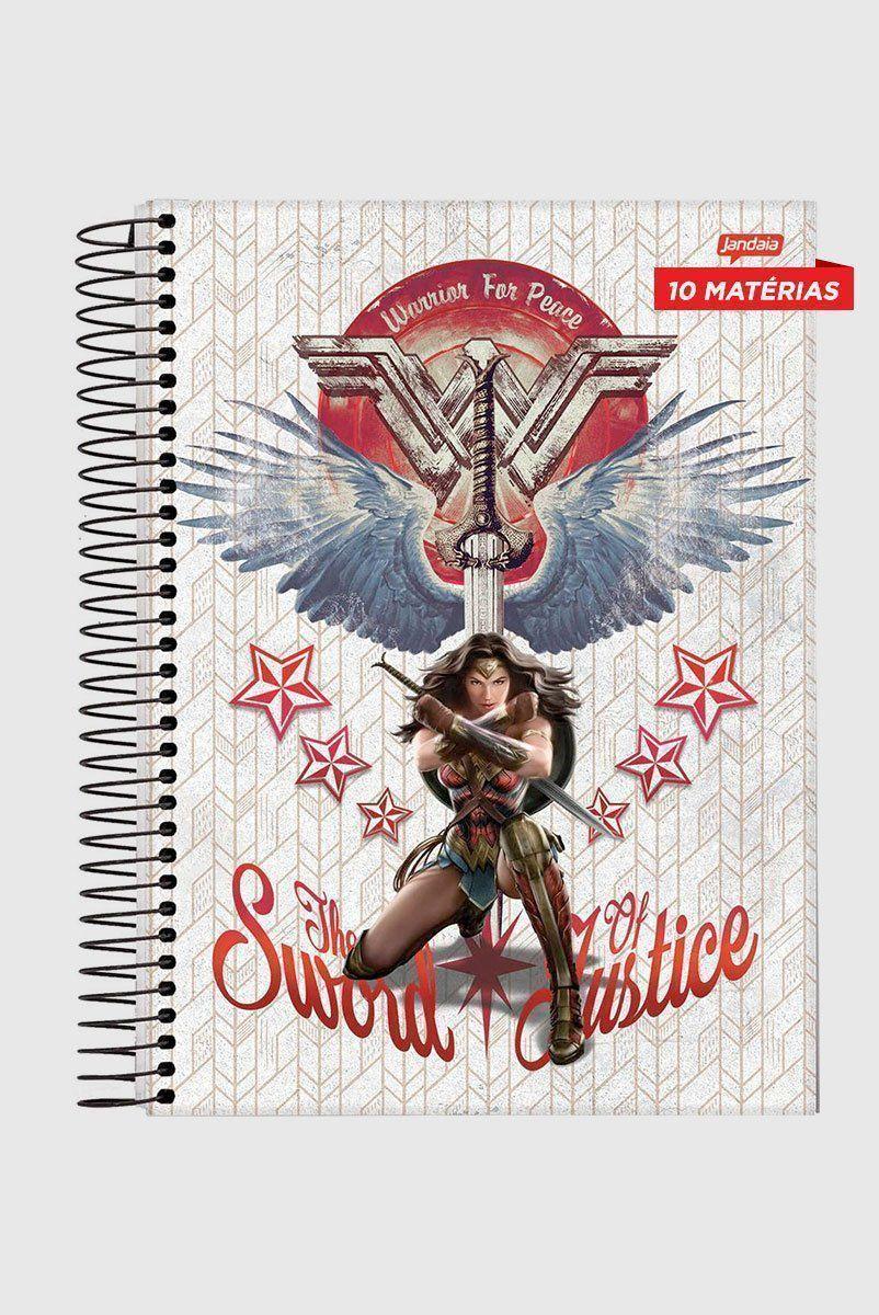 Caderno Mulher Maravilha The Sword Justice 10 Matérias