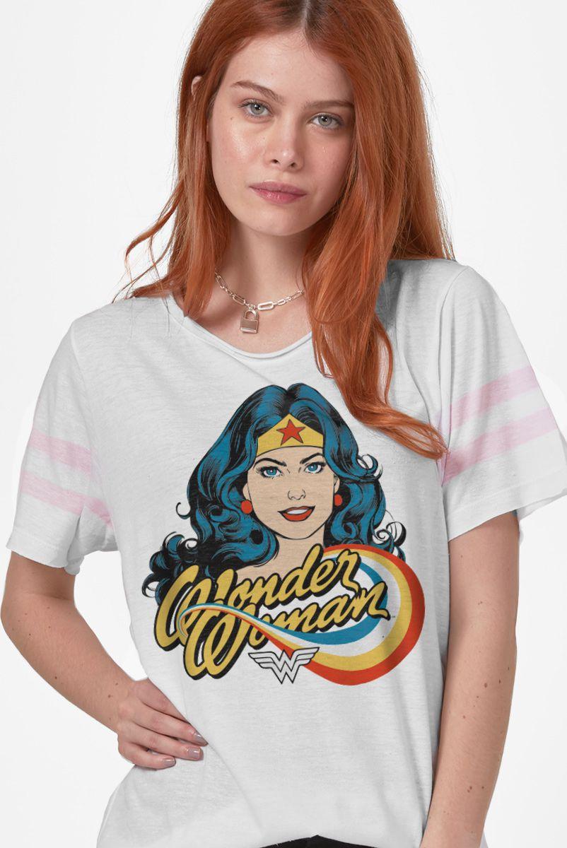 Camiseta Athletic Feminina Mulher Maravilha Photo