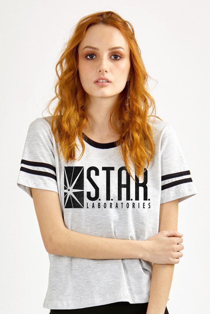 Camiseta Athletic Feminina The Flash Serie Star Laboratories
