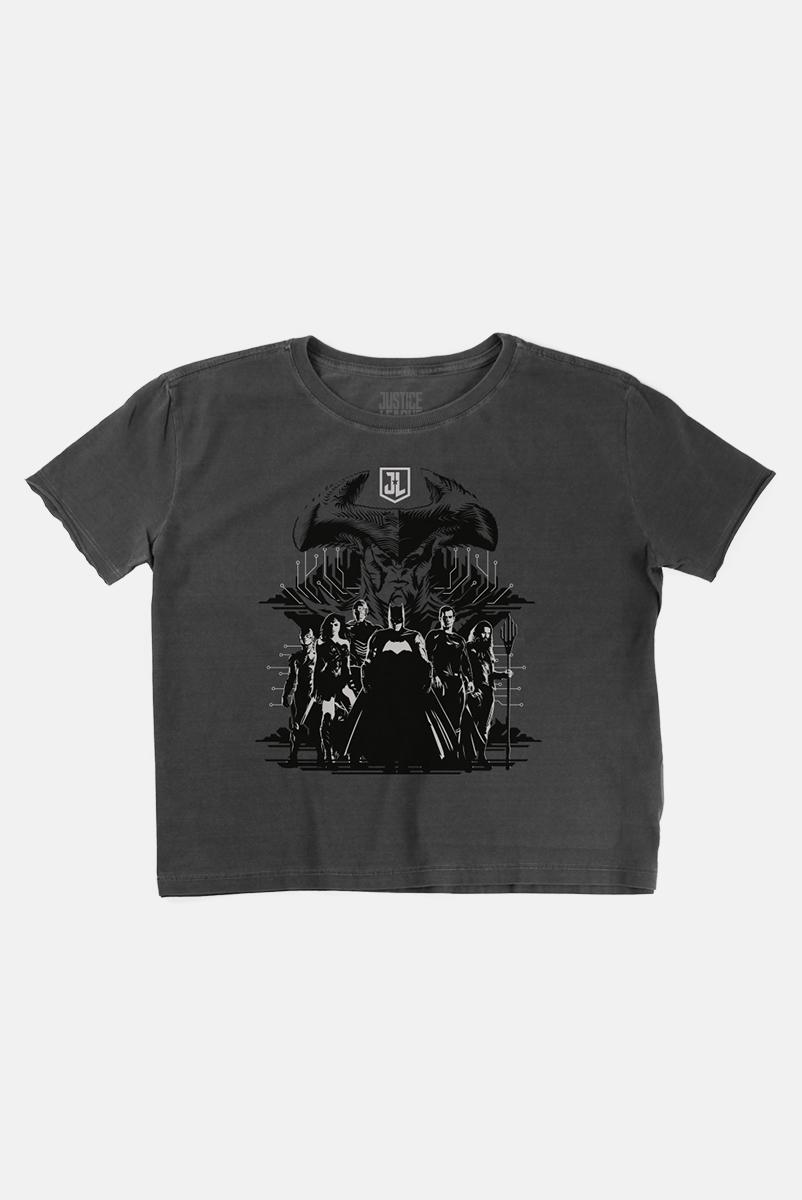 Camiseta Box Feminina Liga da Justiça Snyder Cut - Personagens Liga da Justiça