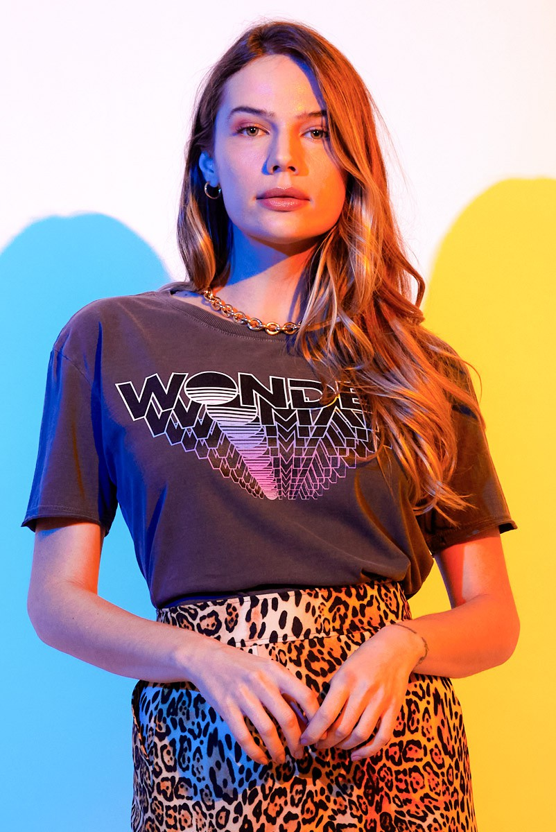 Camiseta Box Feminina Mulher Maravilha 1984 Type