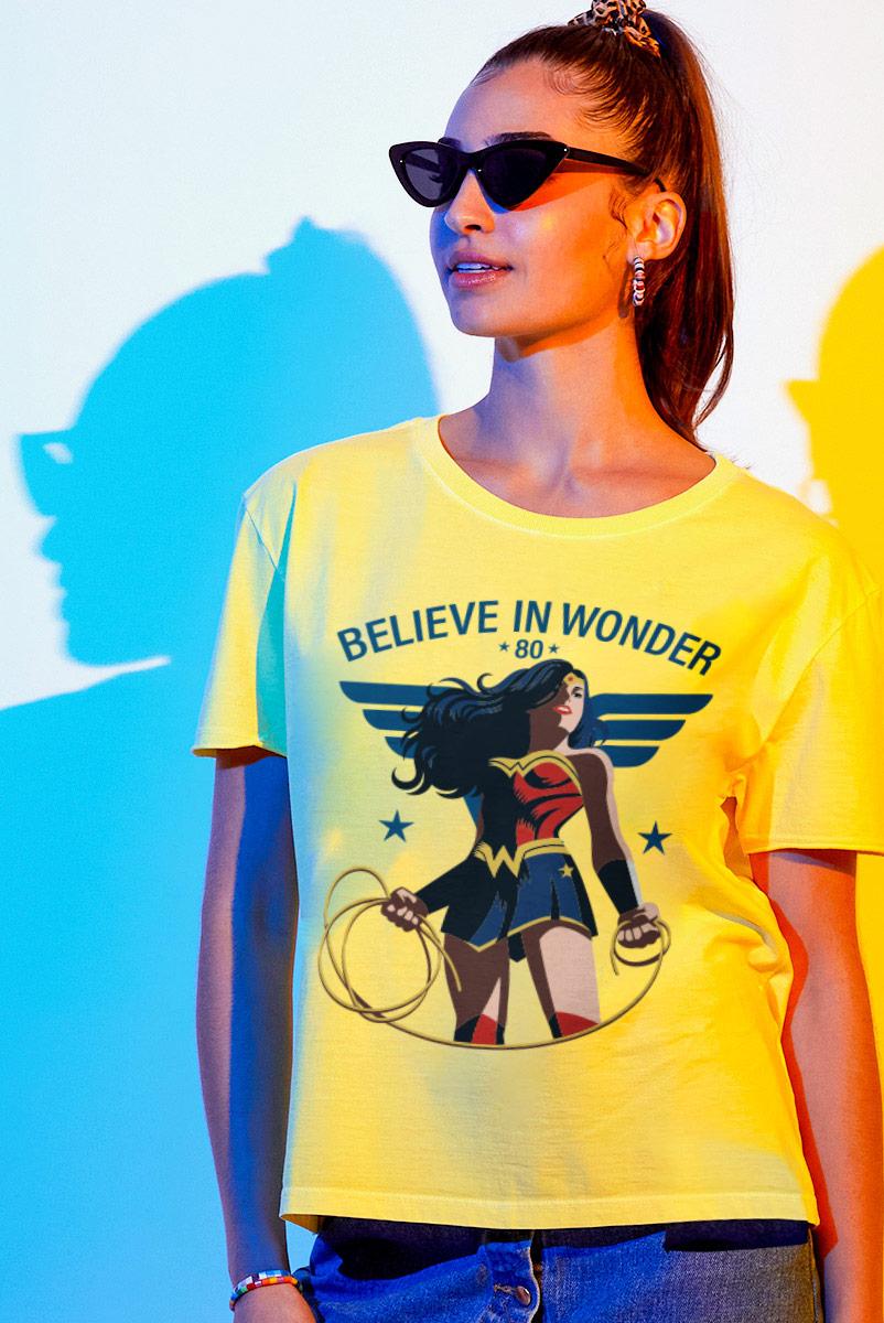 Camiseta Box Feminina Mulher Maravilha Laço da Verdade