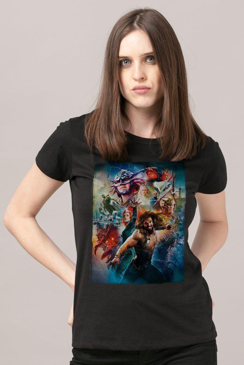 Camiseta Feminina Aquaman Pôster