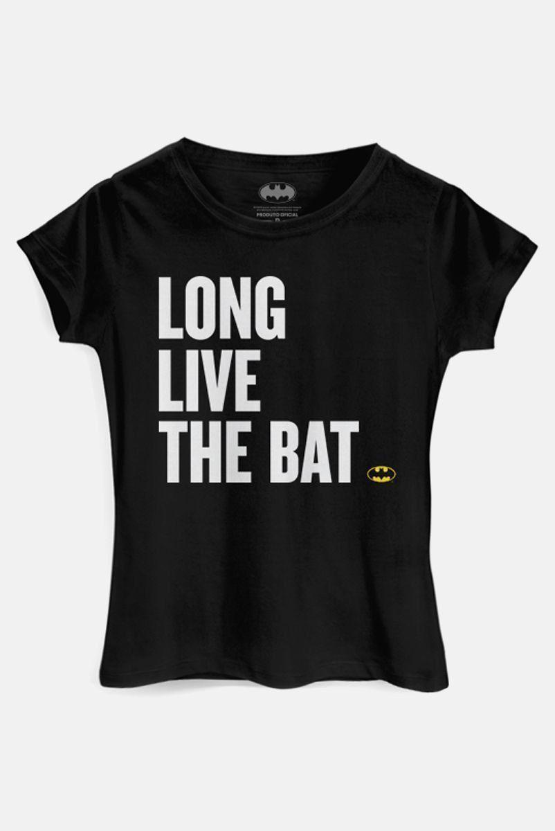 Camiseta Feminina Batman 80 Anos Long Live The Bat