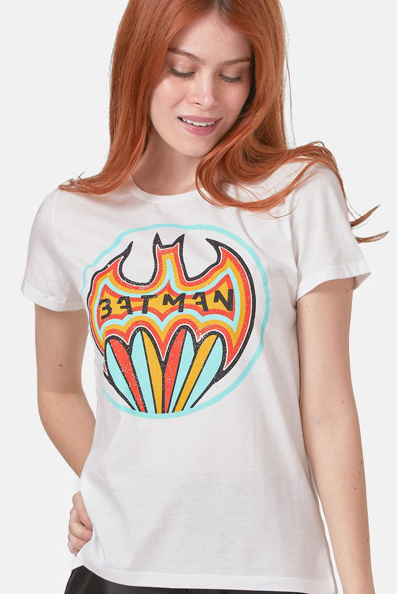 Camiseta Feminina Batman Colorful