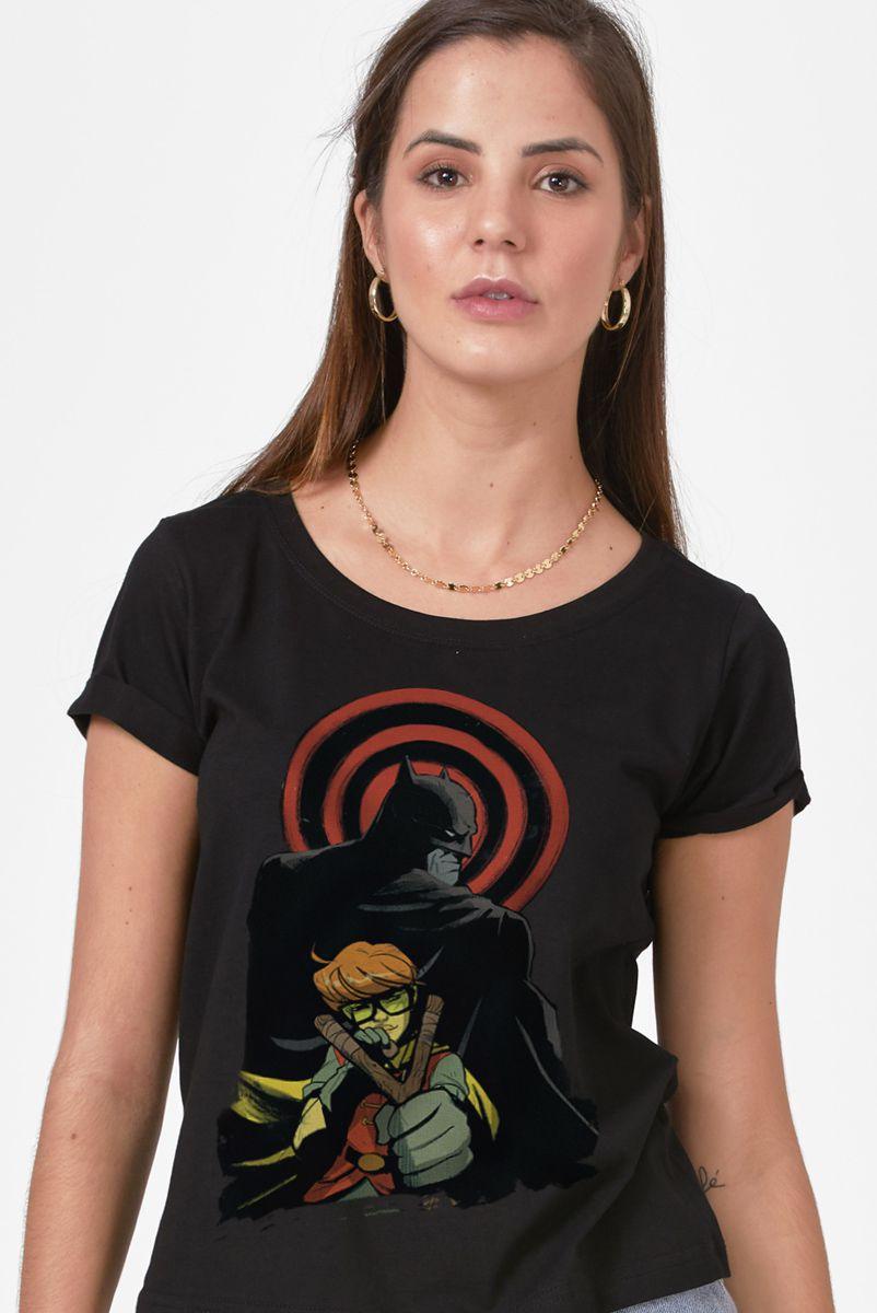 Camiseta Feminina Batman e Robin Cavaleiro das Trevas