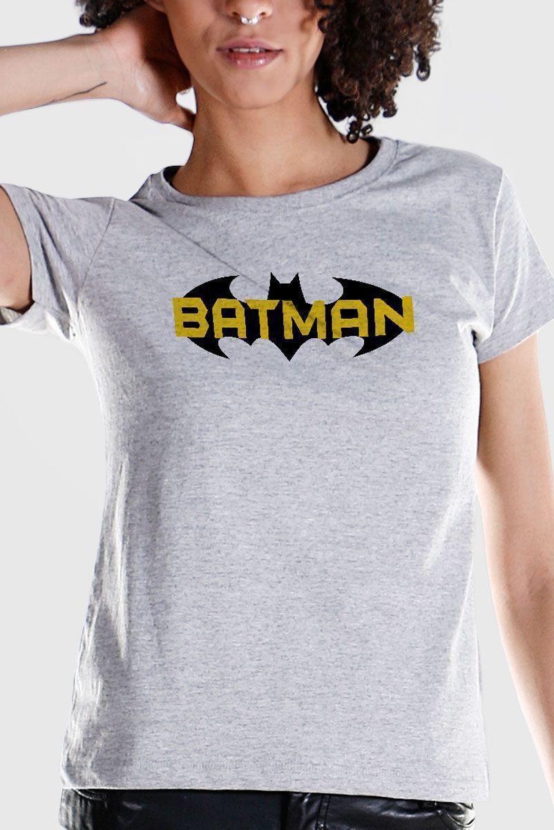 Camiseta Feminina Batman Logo 1998