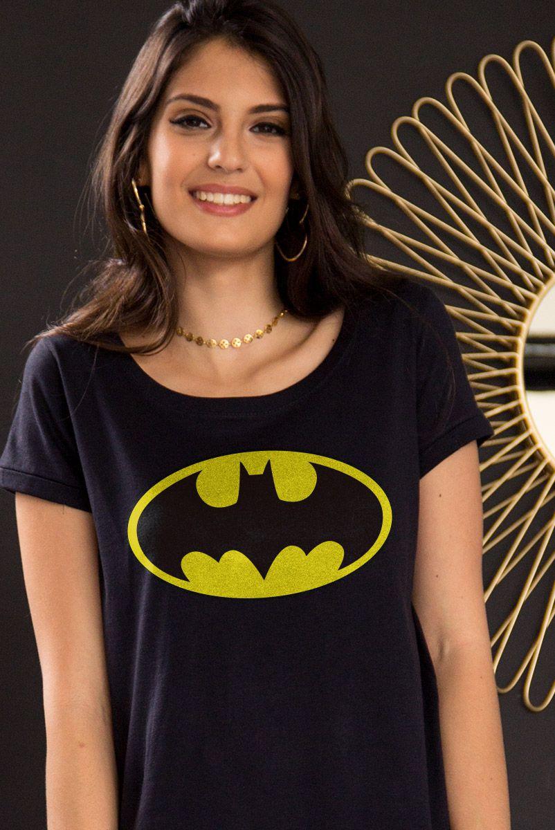 Camiseta Feminina Batman Logo Clássico