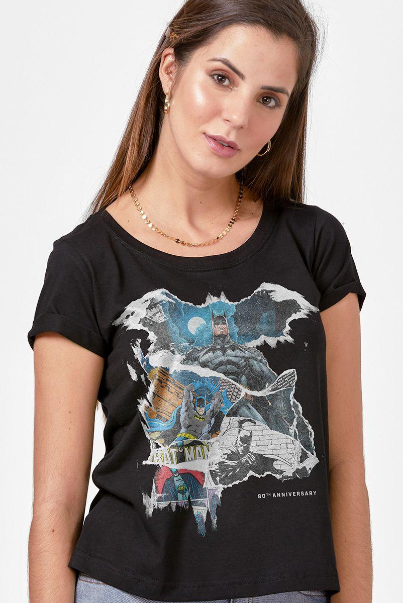 NÃO ATIVAR Camiseta Feminina Batman O Legado