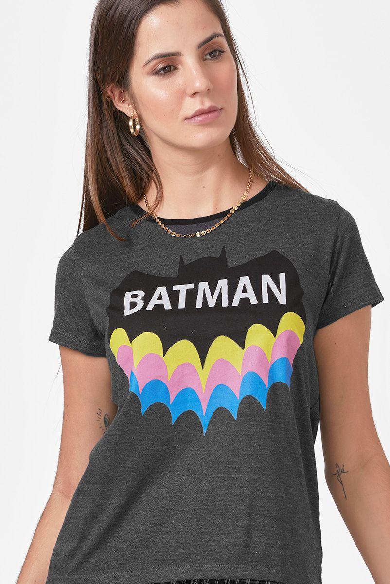 Camiseta Feminina Batman Rainbow