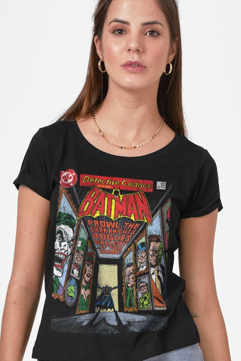 Camiseta Feminina Batman Capa HQ Rogues Gallery -  - Detective Comics N. 566