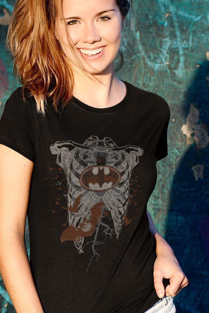 Camiseta Feminina Batman Skull