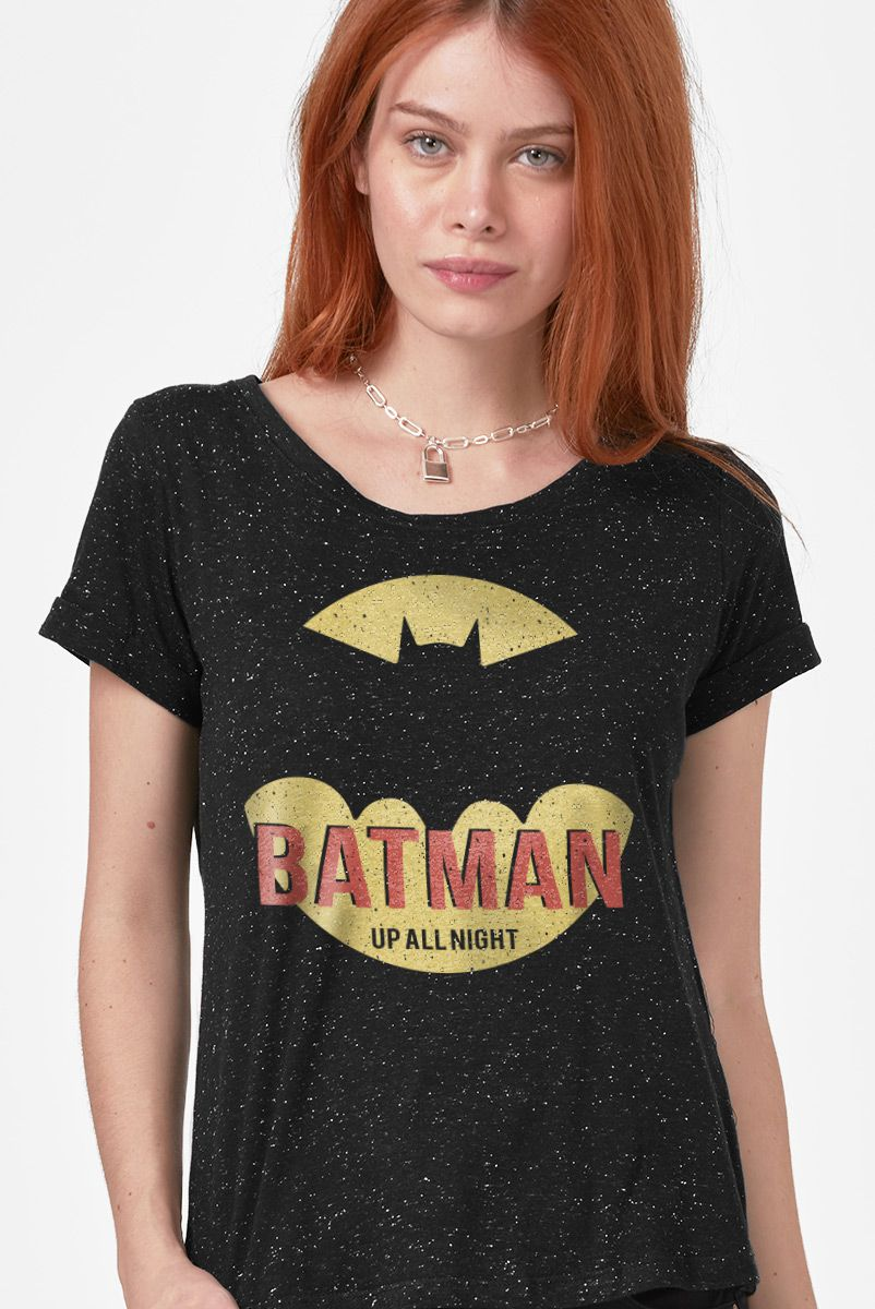 Camiseta Feminina Batman Up All Night