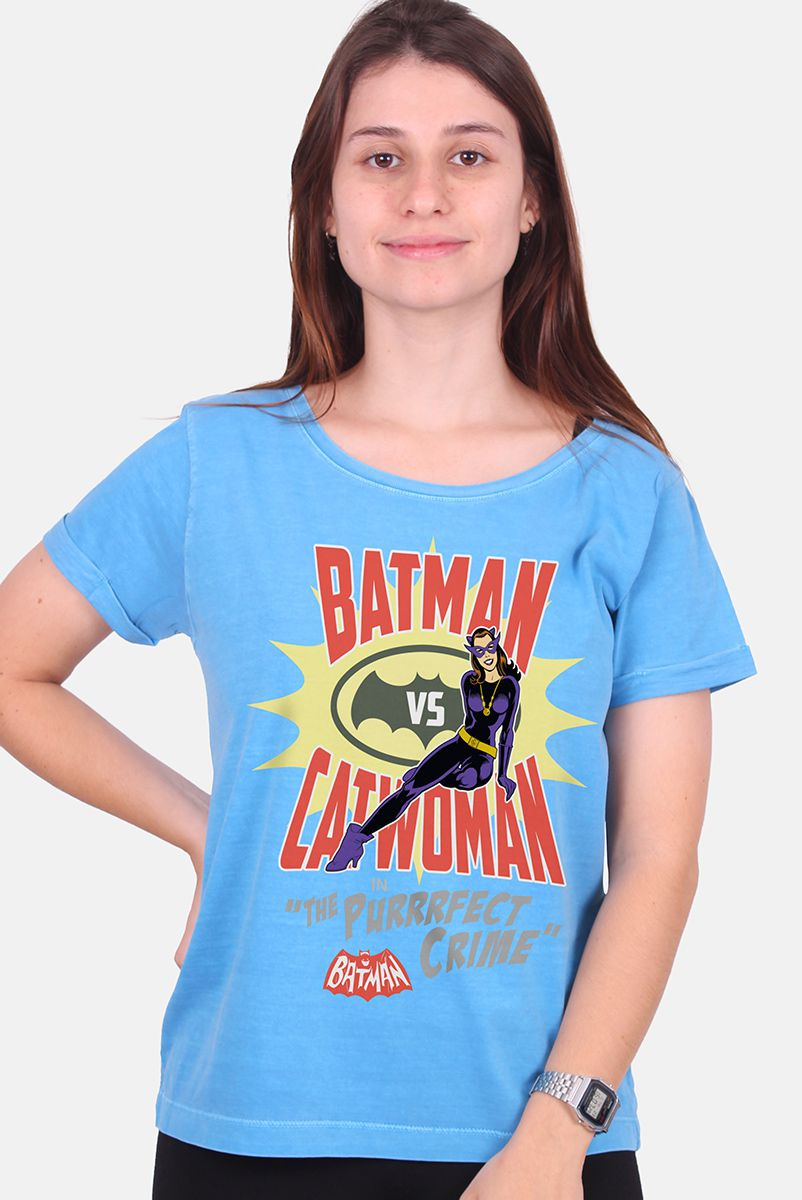 NÃO ATIVAR Camiseta Feminina Batman VS Catwoman