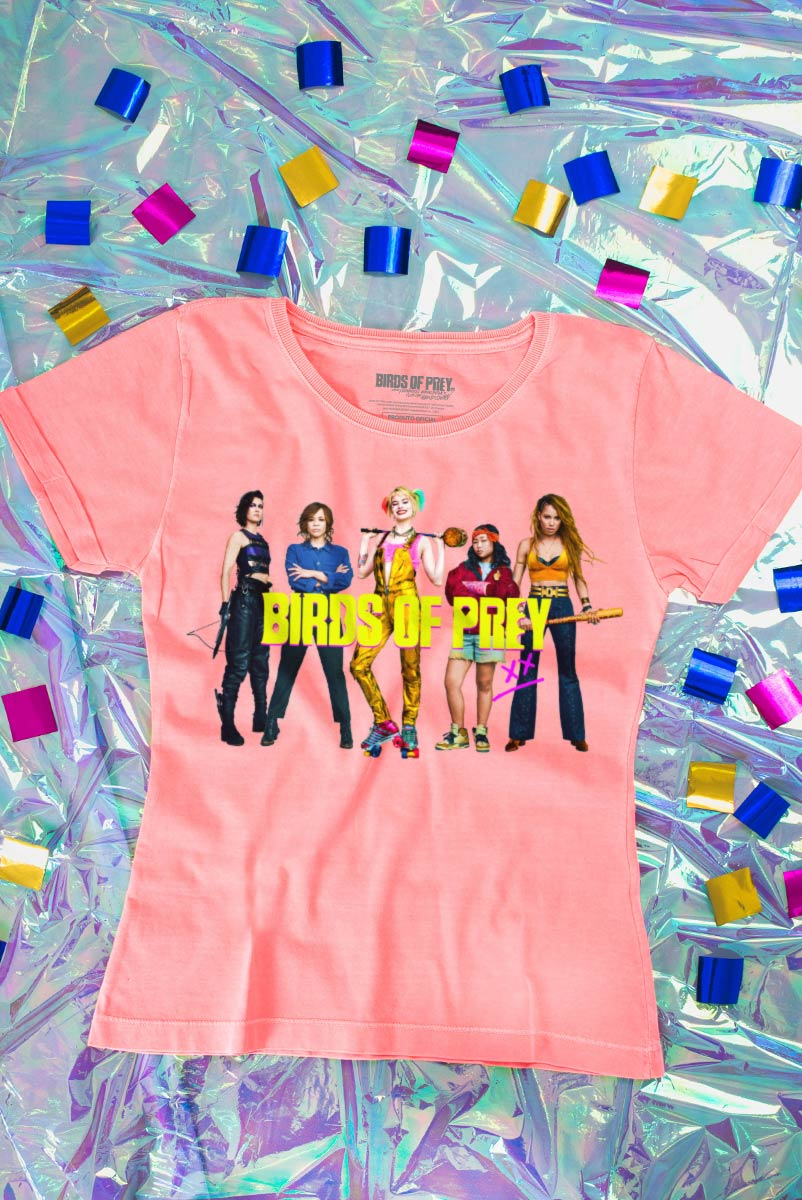 Camiseta Feminina Birds of Prey Personagens - Aves de Rapina