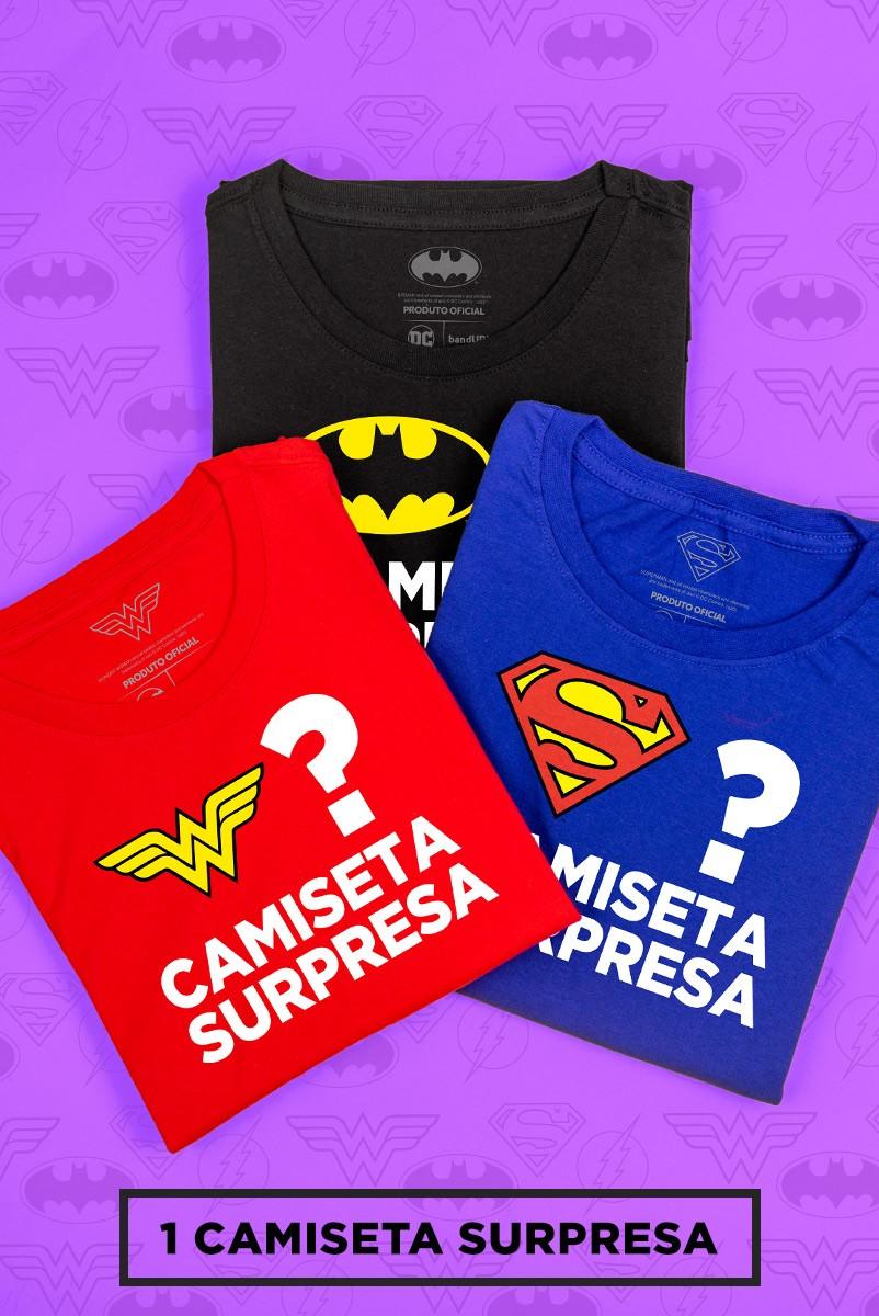Camiseta Feminina DC Comics SURPRESA