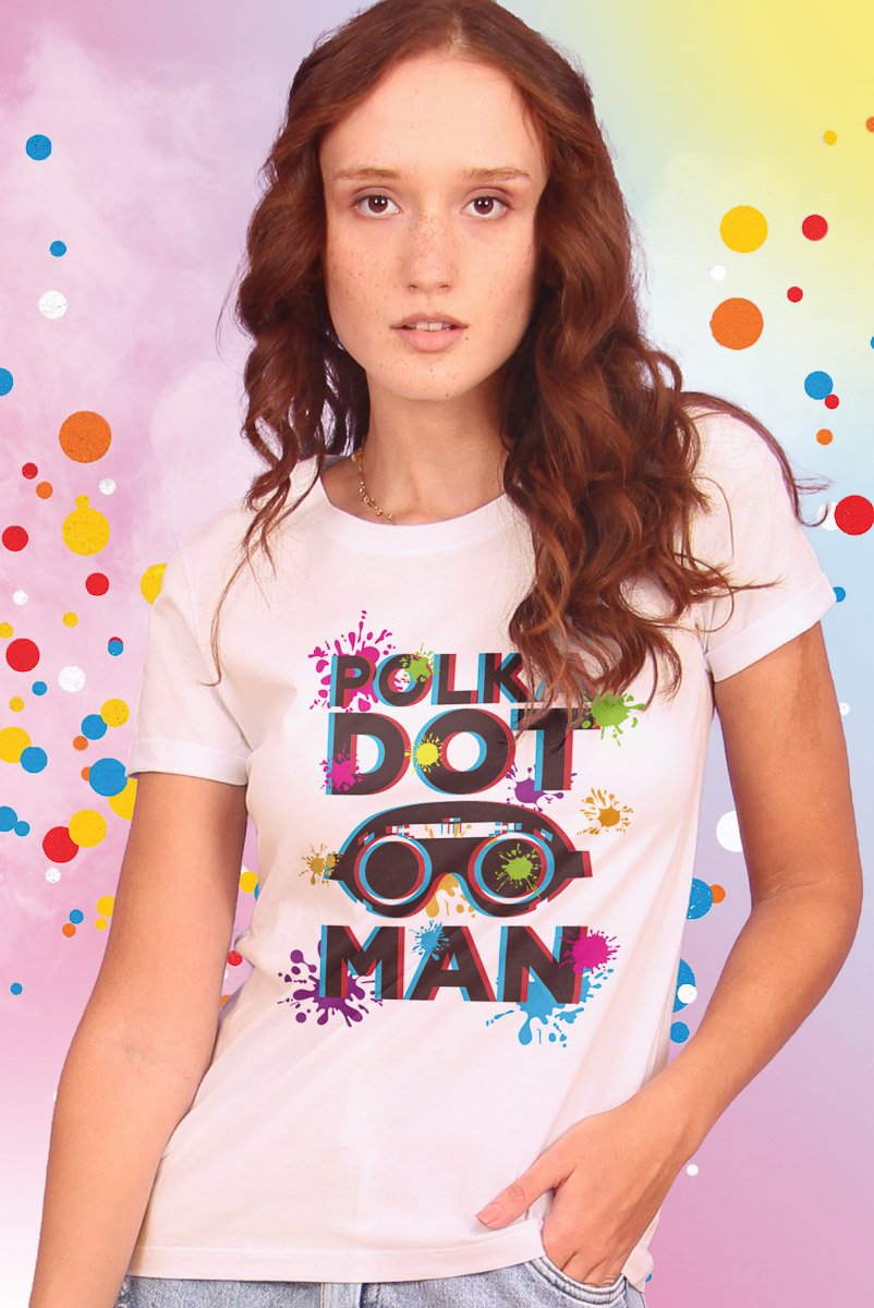 Camiseta Feminina Esquadrão Suicida Polkadot Man