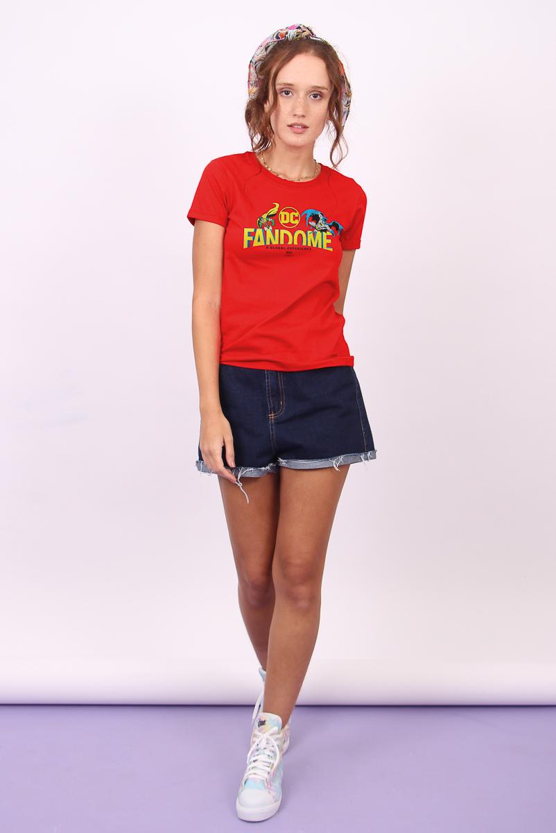 Camiseta Feminina FanDome 2021 Batman e Robin