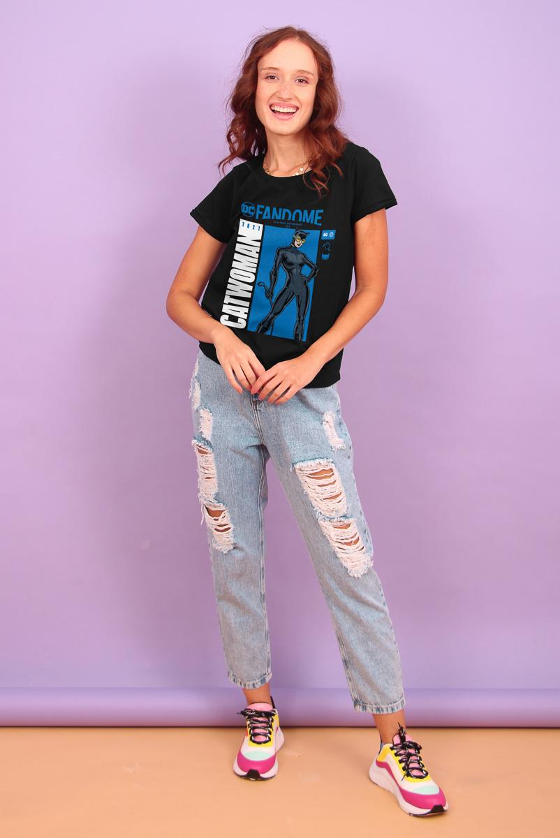 Camiseta Feminina FanDome 2021 Mulher-Gato Pose