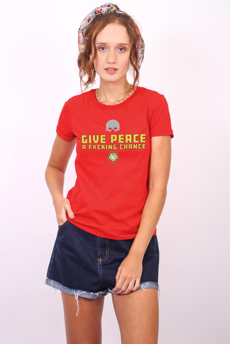 Camiseta Feminina FanDome 2021 Give Peace
