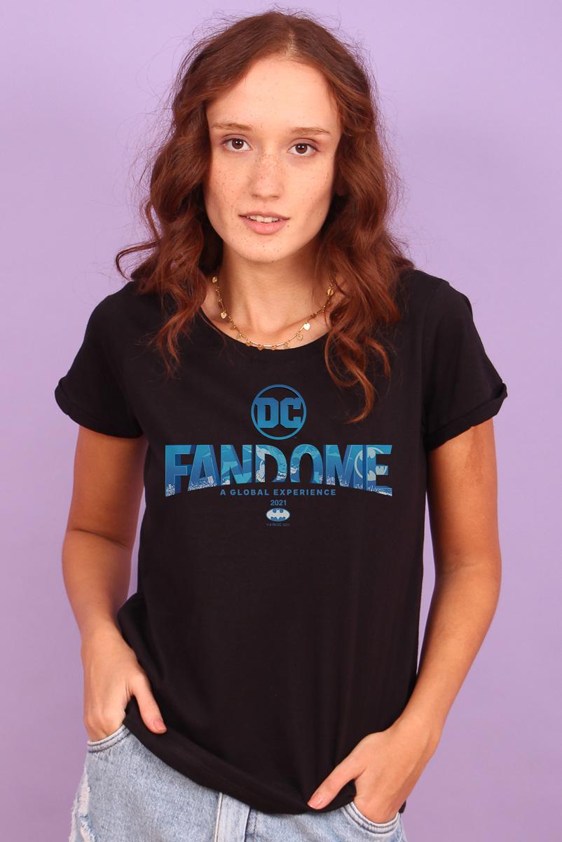 Camiseta Feminina FanDome 2021 Logo Batman Blue