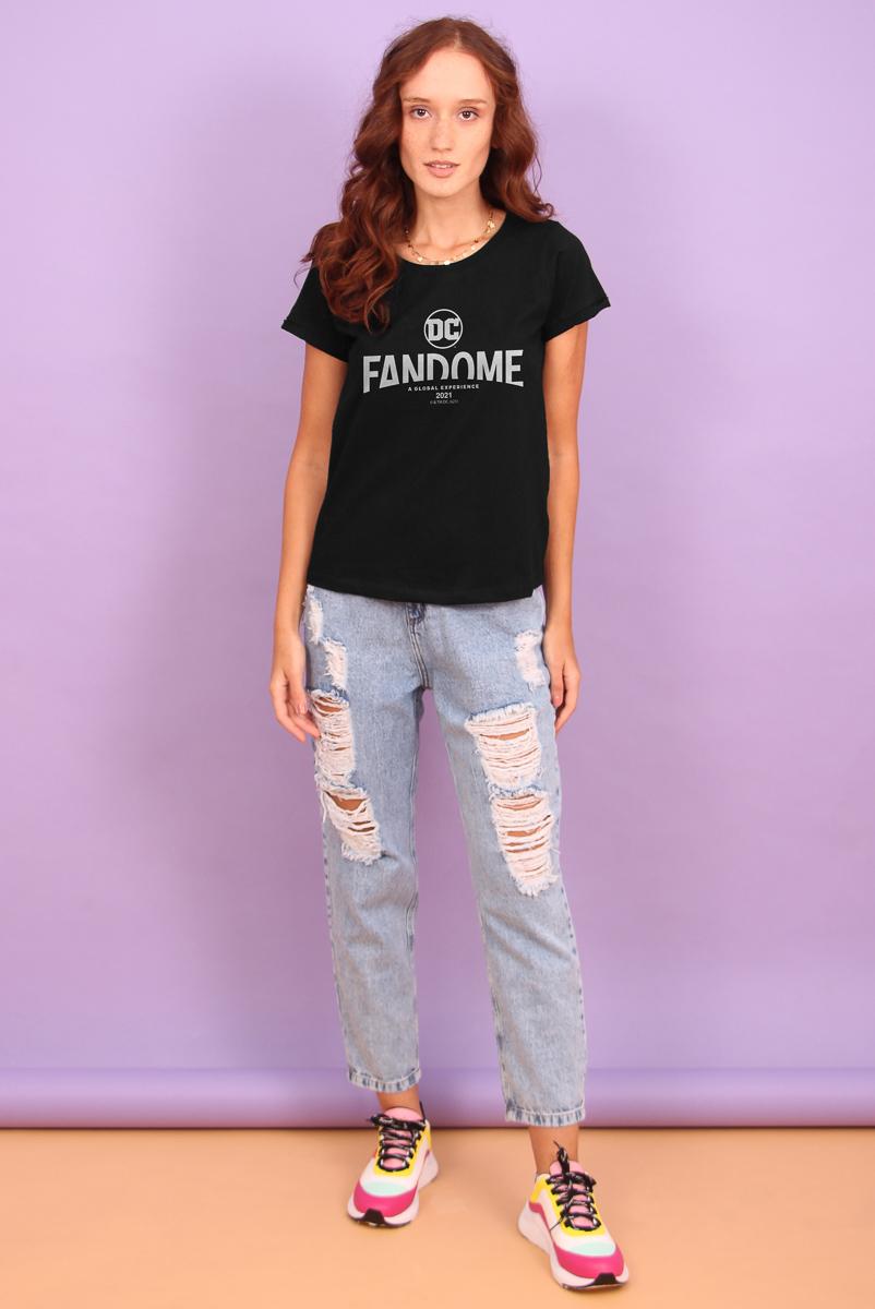 Camiseta Feminina FanDome 2021 Logo Oficial
