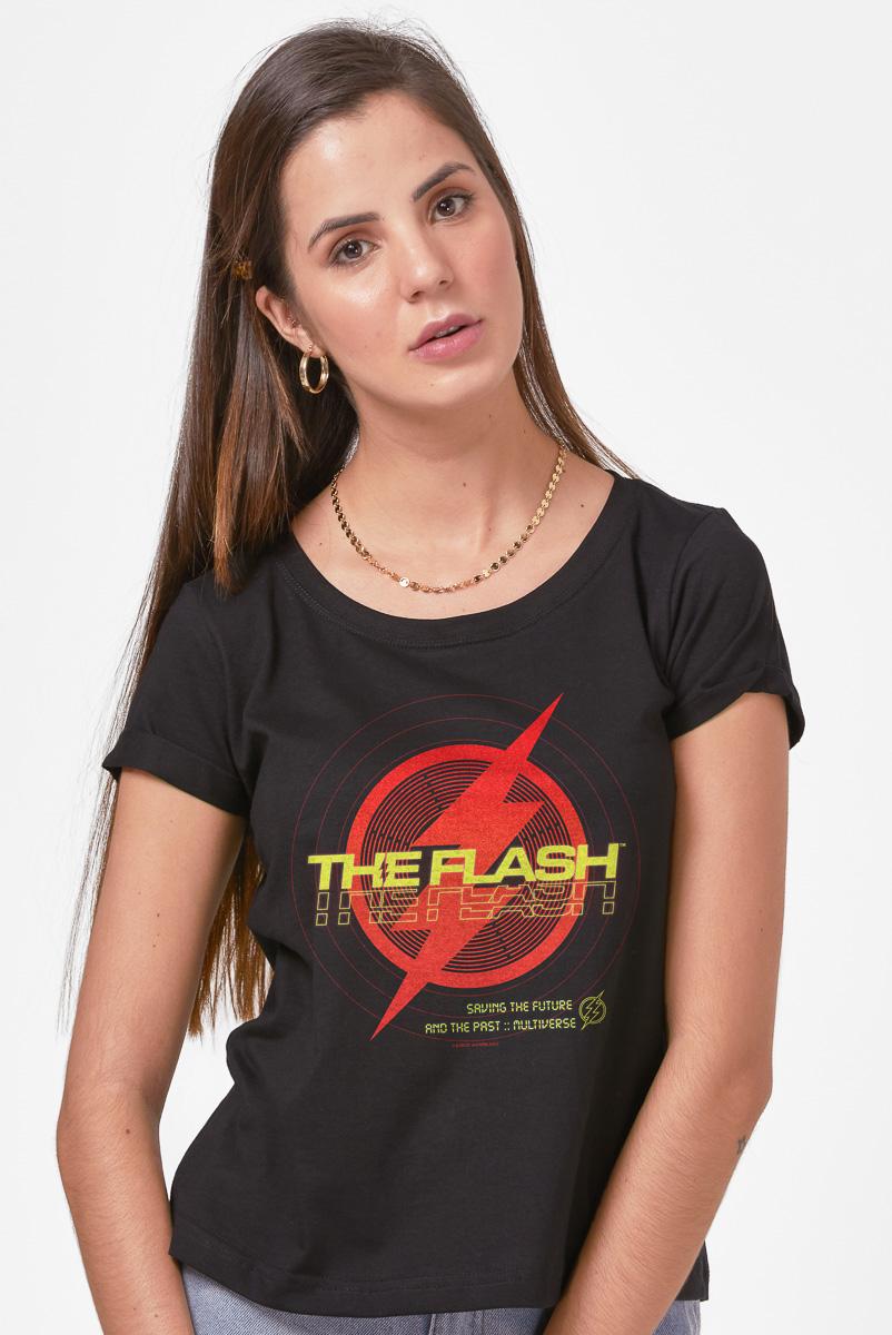 Camiseta Feminina FanDome 2021 The Flash Multiverse