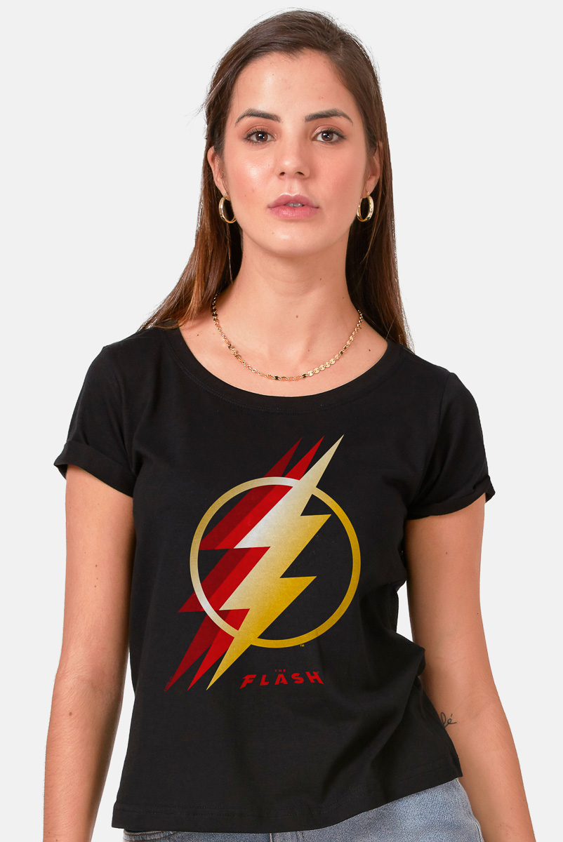 Camiseta Feminina FanDome 2021 The Flash Symbol