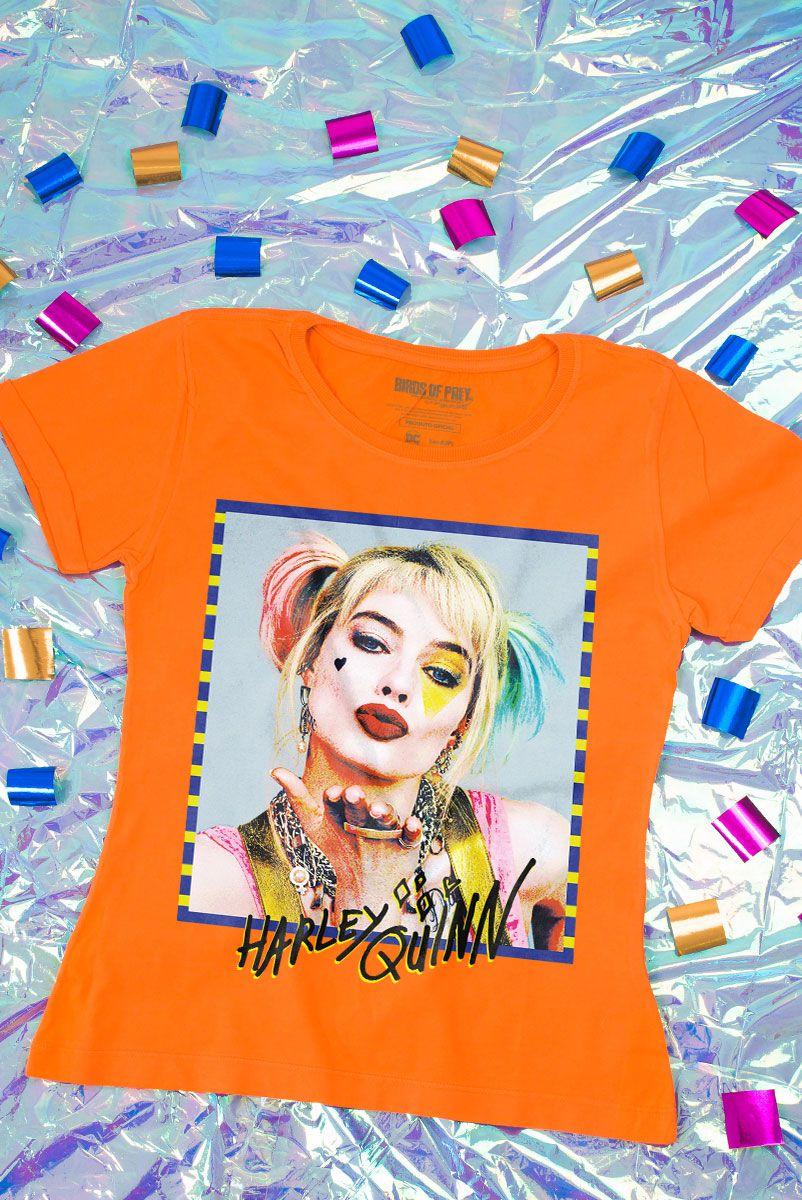 NÃO ATIVAR Camiseta Feminina Harley Quinn - Aves de Rapina