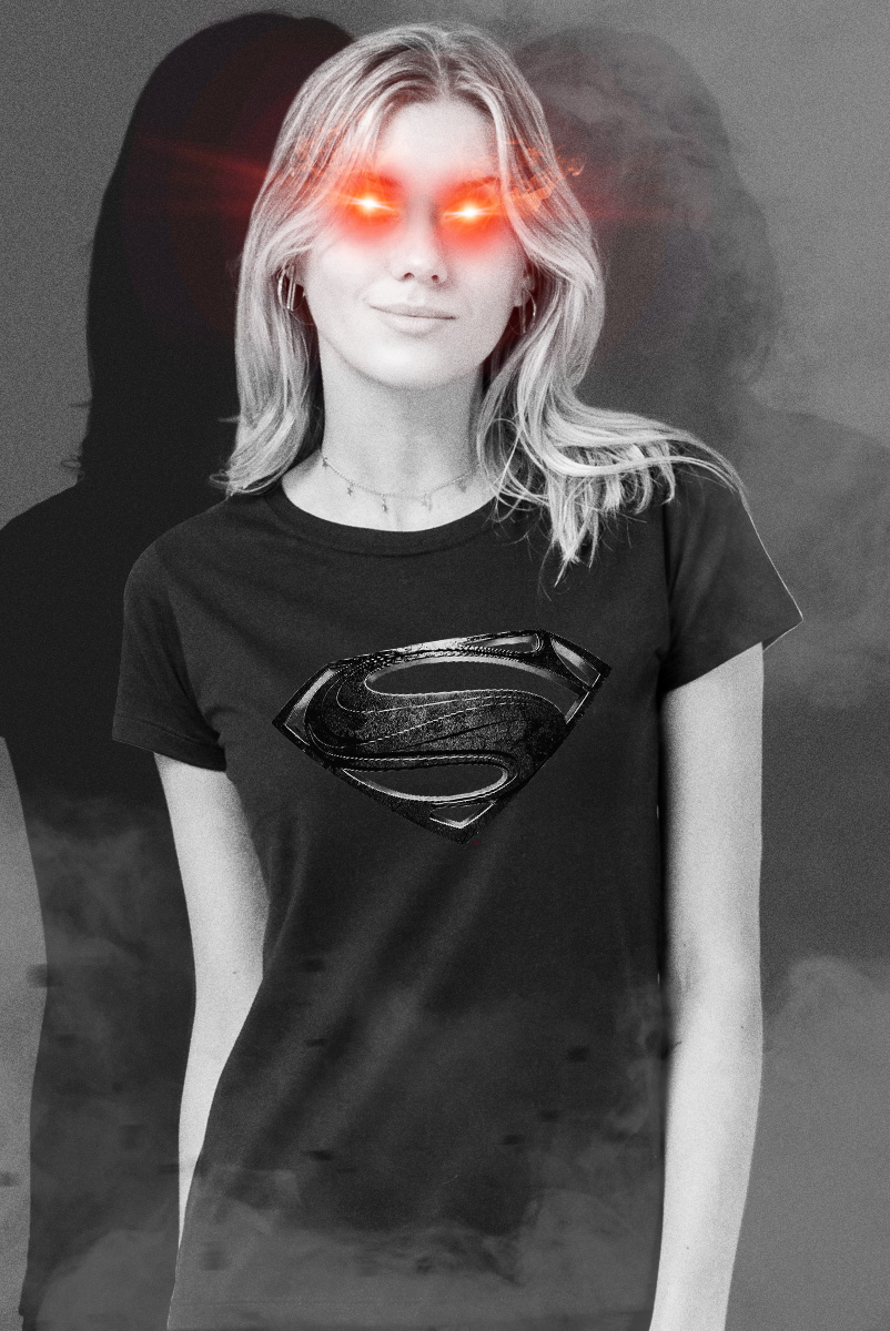 Camiseta Feminina Liga da Justiça Snyder Cut - Superman Logo Dark