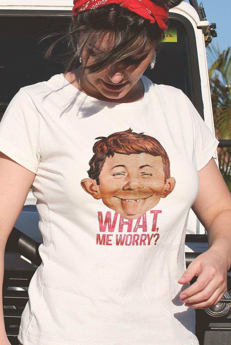 Camiseta Feminina MAD What, Me Worry? 2